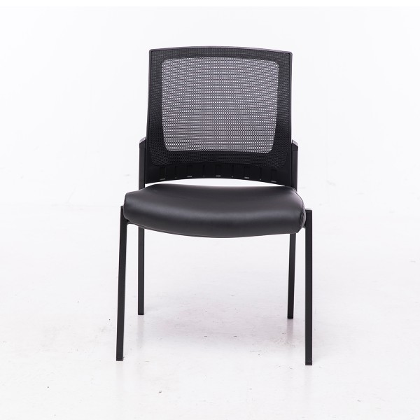 Project X 4 Leg Mesh Back Anti-Bacterial Vinyl Seat Visitor Chair 160kg Weight Rated