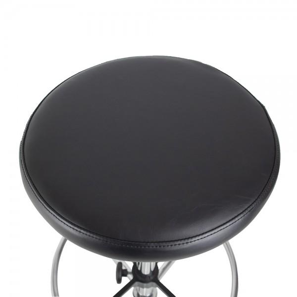 Chrome Utility Gas Lift Stool Vinyl Padded Seat Drafting Height
