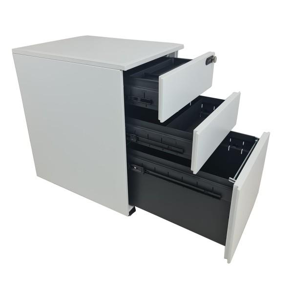KMP Mobile 3 Drawer Pedestal Filing Unit Combination Lockable Cabinet Drawers
