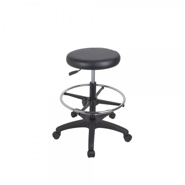 Utility Gas Lift Stool Vinyl Padded Seat Drafting Height