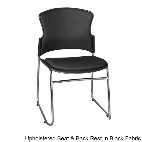 Opal 100 Sled Base Stackable Chair Optional Upholstery Arms & Lecture Writing Tablet