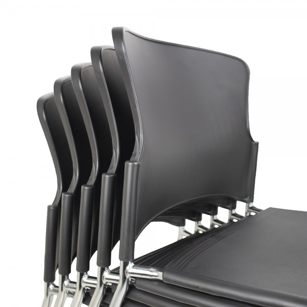 Opal 100 4 Leg Stacking Chair Optional Poly Shell or Upholstery Arms Lecture Folding Writing Tablet