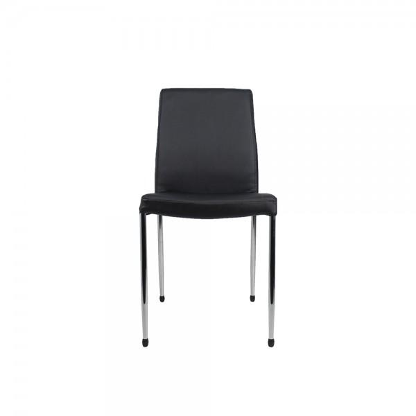 Berwick Cafe Restaurant Club Dining Visitor Chair Padded Vinyl Upholstery Chrome Frame