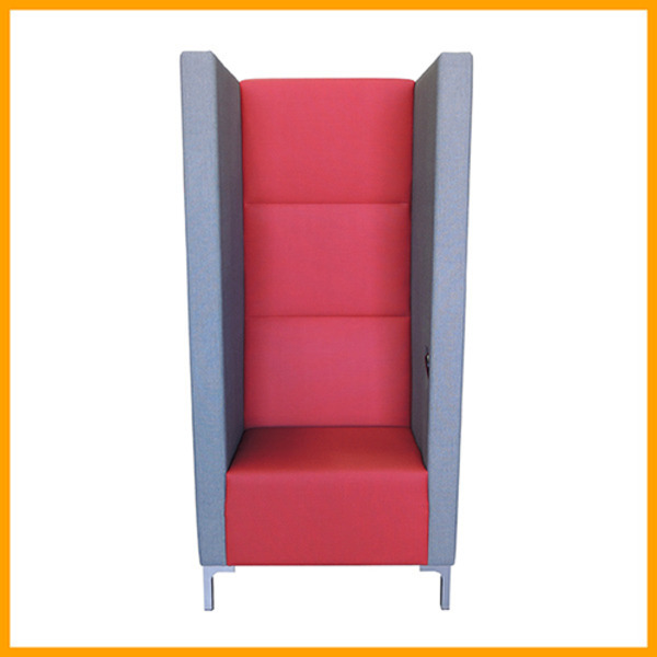 Yara Tall Back Soft Seating High Back Acoustic Winged Private Booth Lounge System