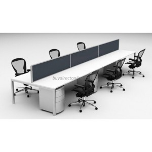 Desk Top Divider Screens Workstation Privacy Partitions Charcoal / Frosted Glass Easy Universal Clamp Fit