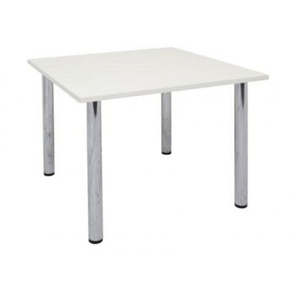 Ronda Square Office Desk Table Top & 4 Metal Legs