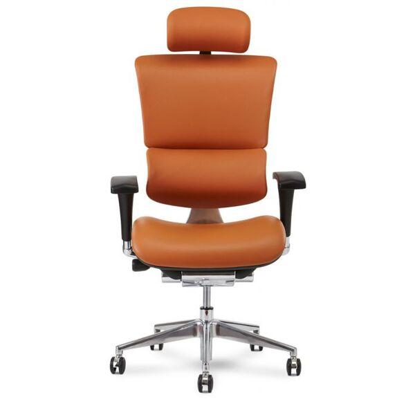 X4 Chair Genuine Premium Leather Executive Ergonomic Office Chair Auto Dynamic Variable Lumbar & Headrest