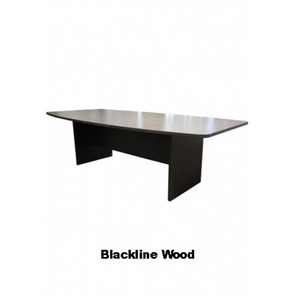 First Office Idea Boardroom Table Boat shaped 2400 x 1200 + 8 Chair Combo