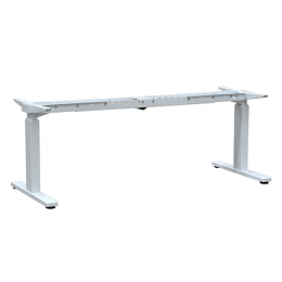 Auto adjustable desk frame with single motor