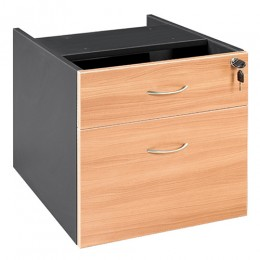 OM Fixed Desk Pedestal 1 drawer plus 1 file Desk