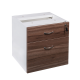 OM Premier Fixed 1 Drawer plus 1 File Desk Pedestal