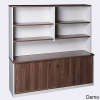 OM Premier Office Desk with Sliding Buffet and Hutch Combo