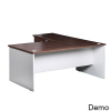 OM Premier Rectangular Complete Office Desk with Return and Fixed Pedestal
