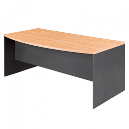 OM Bow Front Office Desk 1800mm Wide