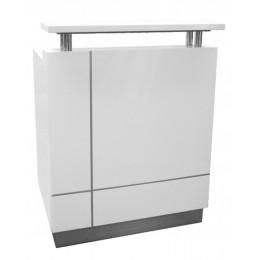 White Receptionist Reception Counter