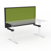 Agile Electric 3 Column Heavy Duty Height Adjustable Desk With Ducting Cable Management Screen