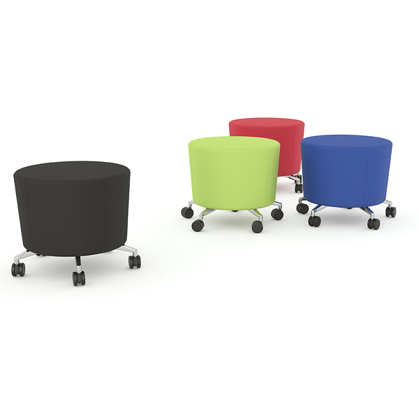 Cookie Ottoman Mobile Stool Seat - Lime Green