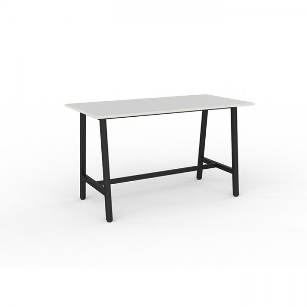 Trestle Table Bar Leaner + 6 Chairs Combo