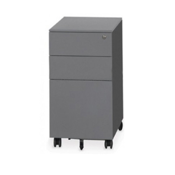 Metal Slimline Mobile Pedestal Drawers Personal & Filing Drawer 300mm Wide