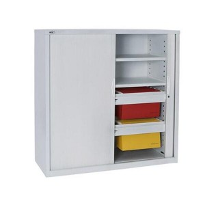 Tambour Door Cupboard Storage Shelving