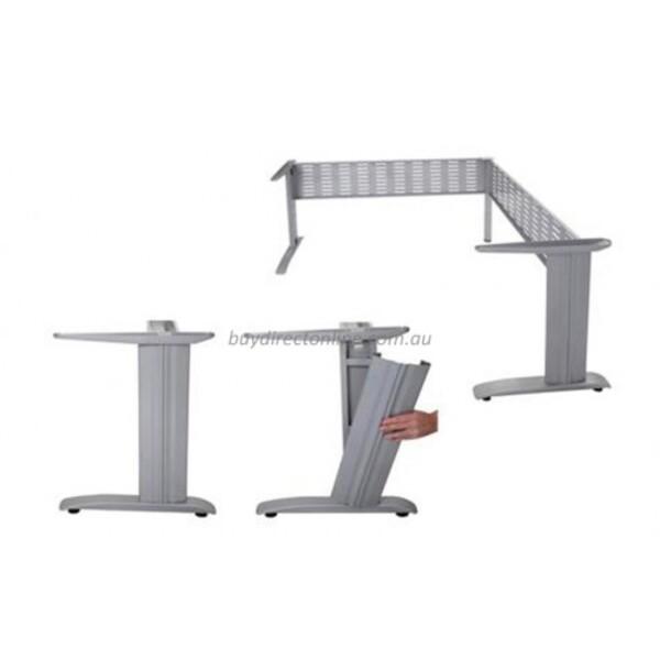 Rapid Span Corner Workstation Desk Metal Frame & Modesty