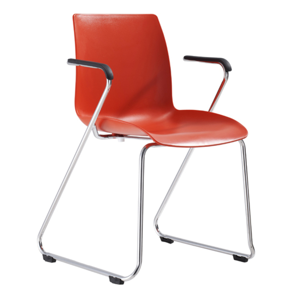 Dona Hospitality Linking Visitor Chair Sled Base + Arms 150KG Weight Rated