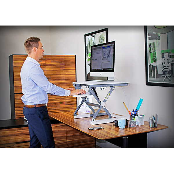 Arise Deskalator Sit Stand Desk & Arise Anti Fatigue Mat Combo Deal