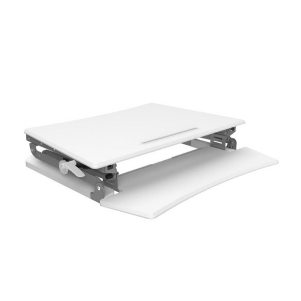 Arise White Deskalator Sit-Stand Desk & Arise Anti Fatigue Mat Combo Deal