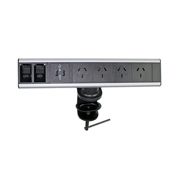 Desktop Power & Data Rail GPO USB With 3 Pin Plug