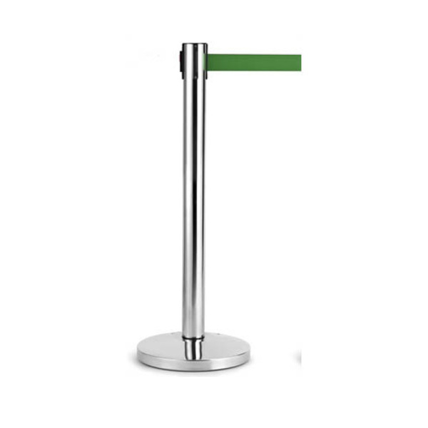 Retracta Crowd Control Stanchion Barrier Stainless Steel Post Stand Queue Chrome Pole