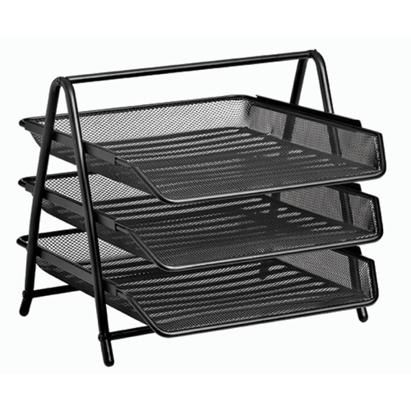 Vision Steelware 3 Tier Mesh Metal A4 Paper Document Trays