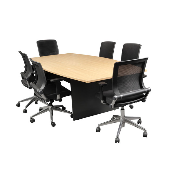 Logan Office Boat Shaped Conference Meeting Table