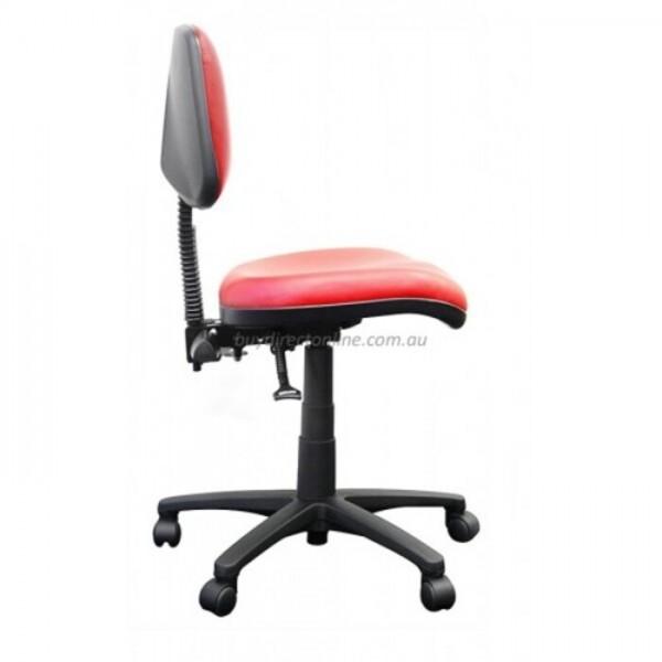 Alpha Logic Medium Back Office Chair - Red Vinyl Clearance Stock *1 Left*
