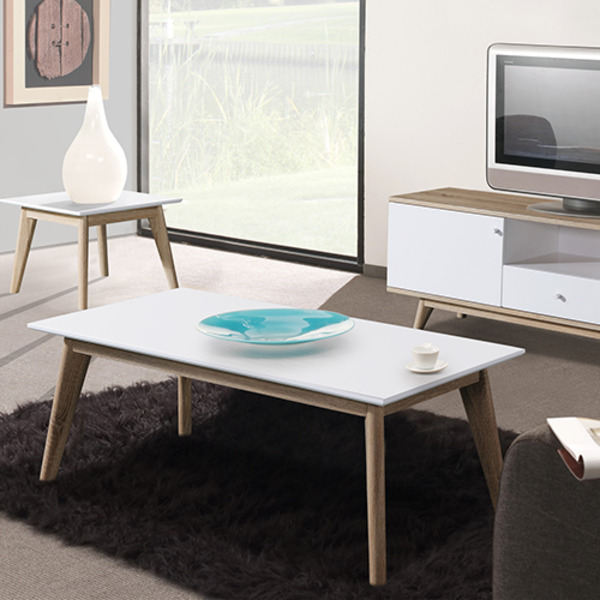 Oslo Coffee Table in White and Natural