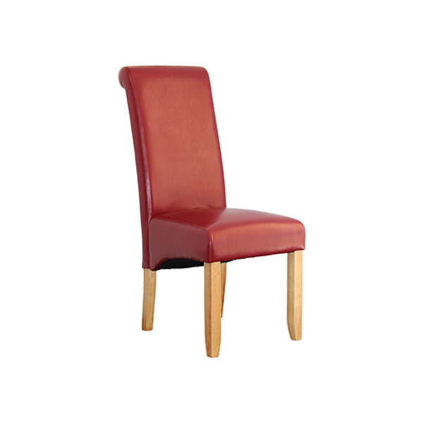 Avalon Timber Leg Faux Leather Upholstery Dining Chair