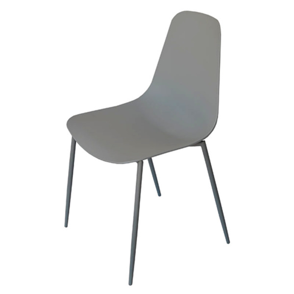 Lisa UV-Protected Outdoor Sculpted Tapered Leg Designer Cafe Dining Chair