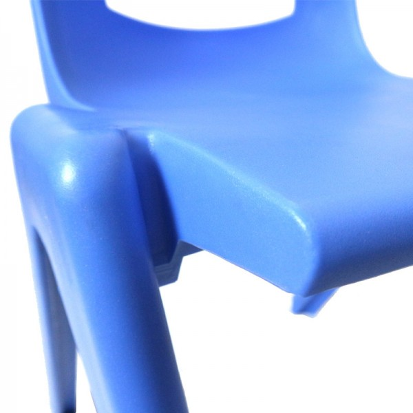 Red Academy School Chair Plastic Stackable Chairs Optional Linking Device
