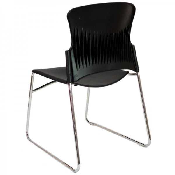 Focus Steelco Chair Plastic Sled Base Stacking Conference Visitor Chairs