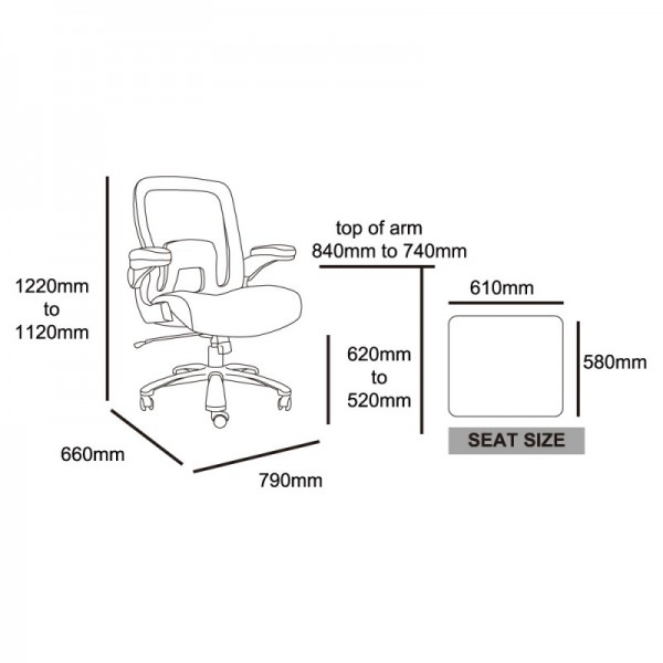 Jet 7300 Mesh Super Heavy Duty Office Chair - Bariatric 200kg