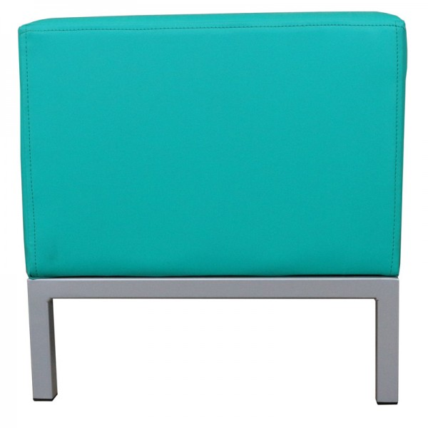 Corporate Ottoman Bench Seat Rectangle Ottomans with Metal Frame