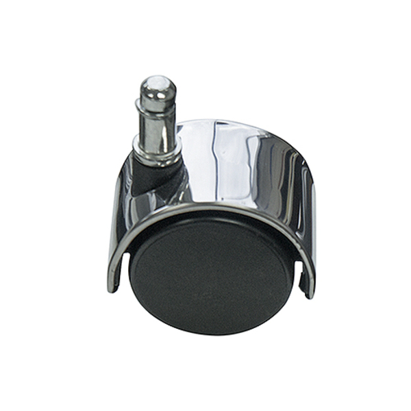 Office Chair Castors with Polished Metal Accent Chrome Chair Wheels Set x 5