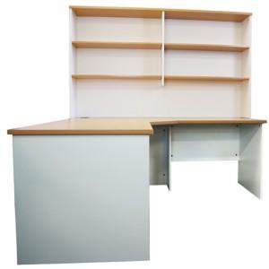 Origo Corner Workstation Office Desk Home Study - Beech & White