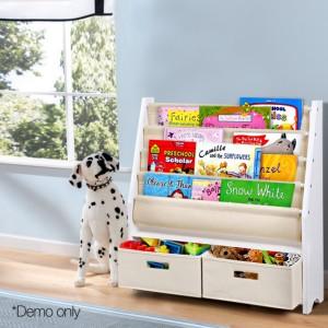 4 Tier Wooden Kids Bookshelf