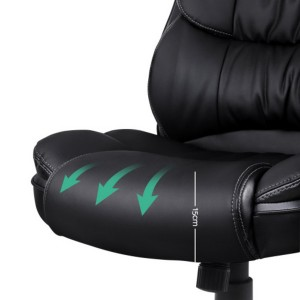 High Back 8 Point PU Leather Reclining Massage Chair