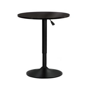 Artiss Height Adjustable Gas Lift Wood Metal Office Cafe Bar Table - Black