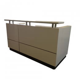 Ariel Reception Counter Desk (White)