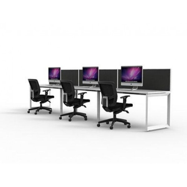 Rapid Infinity 1200x700 Workstation Single Sided With Screens - Loop Leg