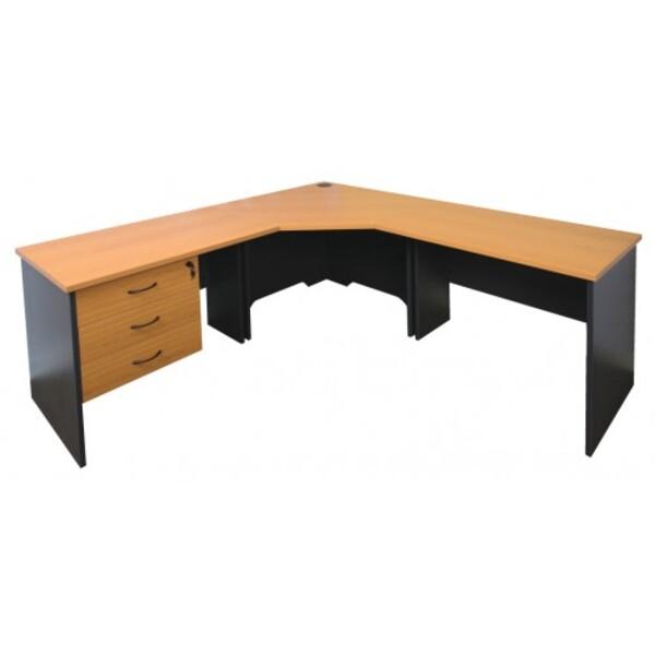 Fast Corner Desk Workstation & Hutch Combo + Optional Chair