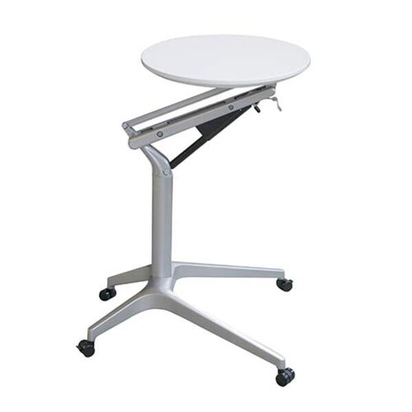 Height Adjustable Table Mobile Lectern Office Home Sit Stand Desk