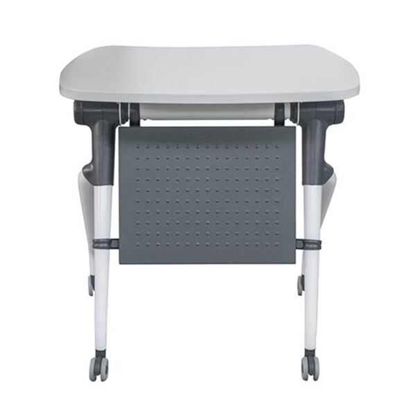 Flip Top Desk Exam Lecture Training Table with Modesty Panel and Storage Tray